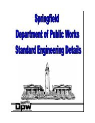Engineering Details - City of Springfield