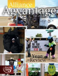 On September 25th, 2012 Alliance Ag was