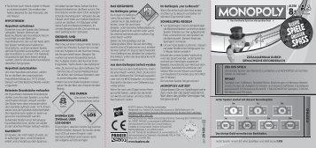 Spielanleitung Monopoly