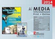 Mediadaten werkzeug&formenbau 2014 - Werkzeug und Formenbau