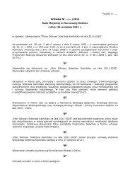 Projekt nr 16 - Biuletyn Informacji Publicznej, Urząd Miasta i Gminy ...