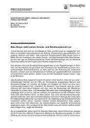 Malu Dreyer stellt vierten Armuts- und Reichtumsbericht vor