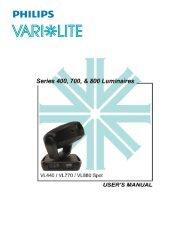 VL440, VL770, & VL880 Spot Luminaires User's Guide - Vari-Lite