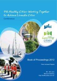 Book of Proceedings Peer Reviewed - Healthy Cities Conference