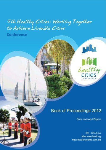 Book of Proceedings Peer Reviewed - Healthy Cities Conference