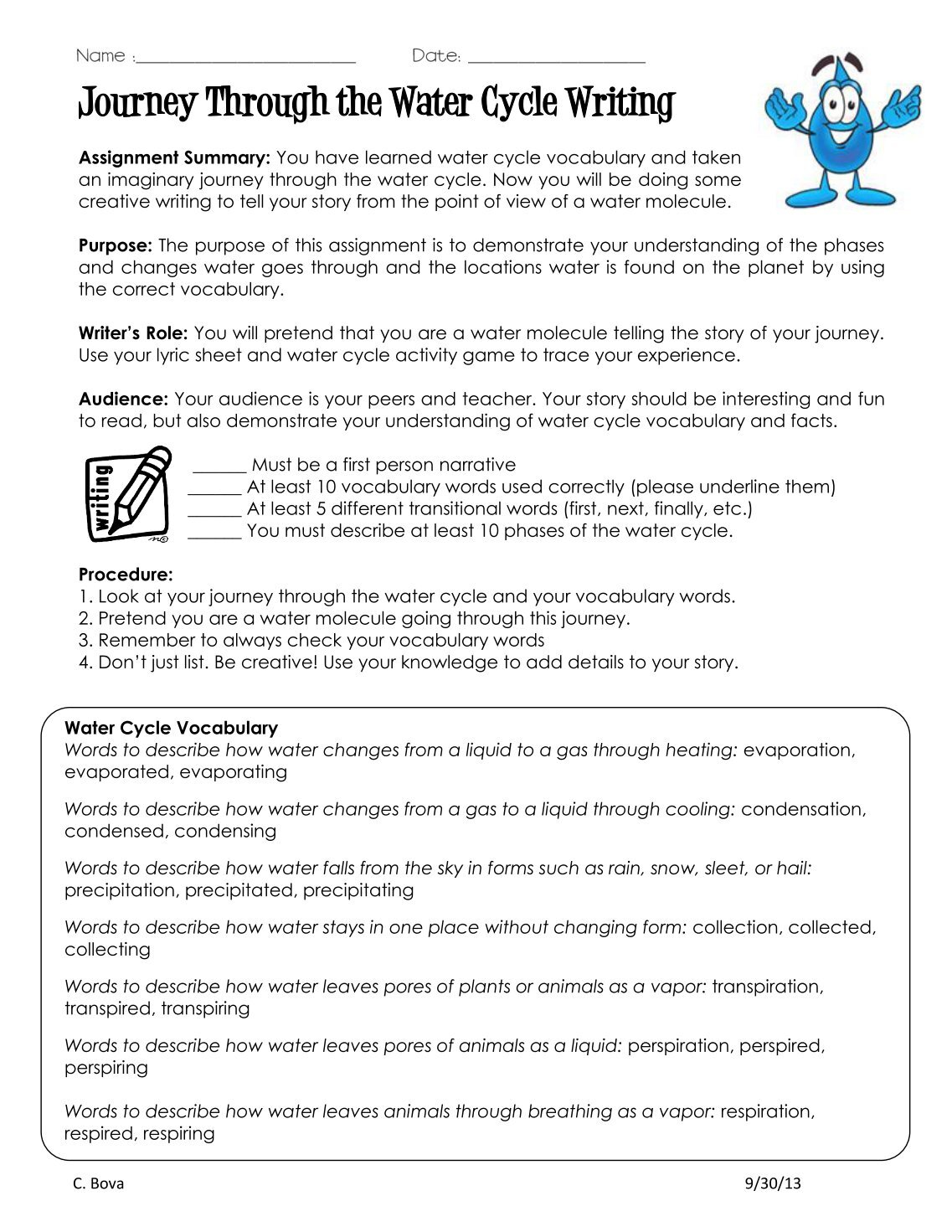 Worksheets Water Cycle Worksheet High School water cycle worksheet high school the free printable best essay for on journey through essaypdf mr bova with high