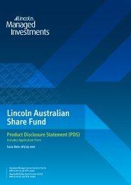 Lincoln Australian Share Fund - Lincoln Indicators