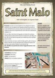 Spielregel Saint Malo - Inka und Markus Brand