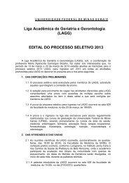 edital - Faculdade de Medicina da UFMG