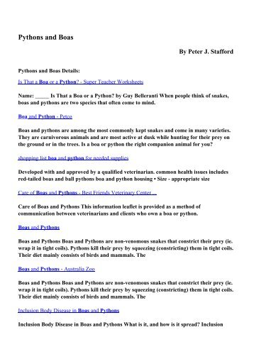 A south american continen download pythons and boas pdf ebooks by peter j stafford fandeluxe Images