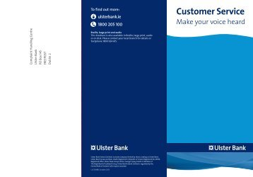 Customer Service - Make your voice heard - Ulster Bank
