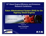 Eaton Aftertreatment System (EAS) for On-Highway Diesel ... - EERE