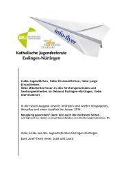 Infoflyer Ende 2013 - Jugendreferat