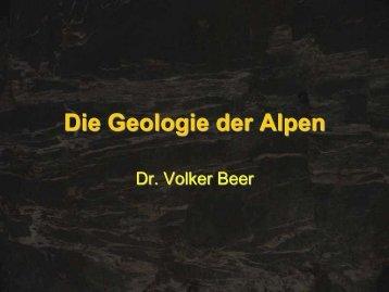 Die Geologie der Alpen - Leipzig