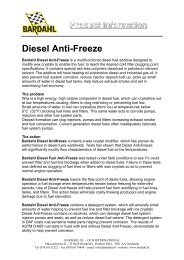 Product information Diesel Anti-Freeze - Bardahl