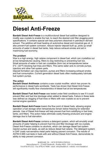 Product information Diesel Anti-Freeze - Bardahl