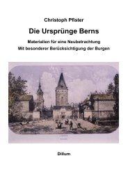 Christoph Pfister Die Ursprünge Berns - Dillum