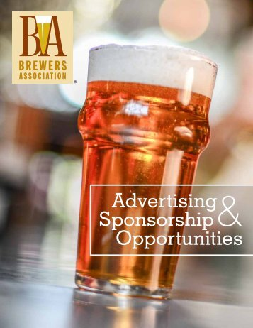 Advertising Sponsorship Opportunities - Brewers Association