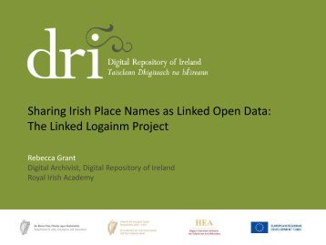 Sharing Irish Place Names as Linked Open Data: The ... - HEAnet