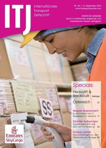 Specials: - ITJ   Transport Journal