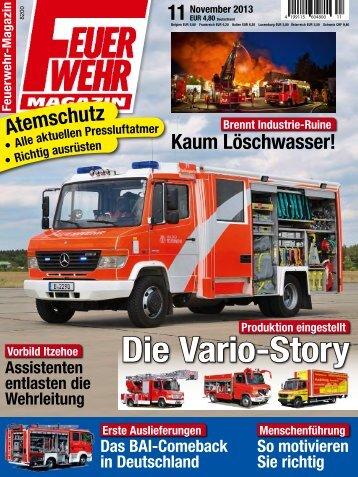 Feuerwehr Magazin 11 2013 - Hofvermarktung - Partyservice ...