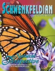Spring 2007 issue - Schwenkfelder Library & Heritage Center