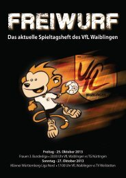 Freiwurf 25.10.2013 Frauen und Männer - VfL Waiblingen