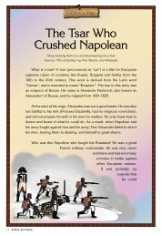 The Tsar Who Crushed Napolean