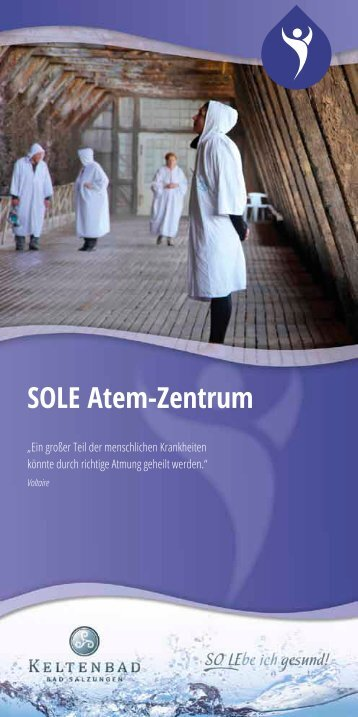 Faltblatt SOLE Atem Zentrum - Keltenbad Bad Salzungen