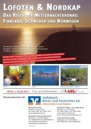 Flug nach Rovaniemi - Volksbank Brilon-Büren-Salzkotten eG
