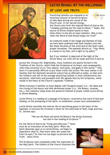 lectio divina - t www.thefaith.org.au