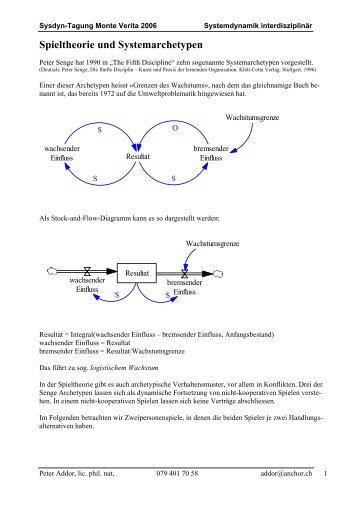 Spieltheorie und Systemarchetypen