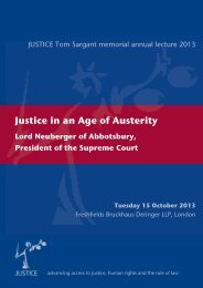 Lord Neuberger - Justice In An Age Of Austerity