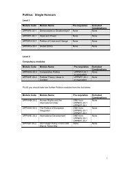 Module information for Politics