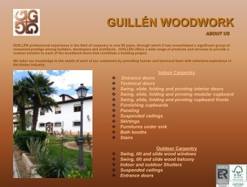 guillén woodwork - GUILLÉN Carpintería de Madera