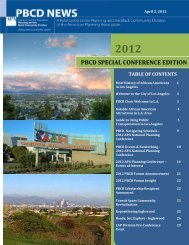 pbcd special conference edition - American Planning Association