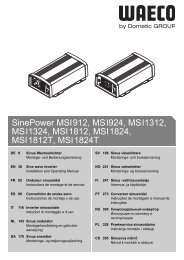 SinePower MSI912, MSI924, MSI1312, MSI1324, MSI1812 ... - Waeco