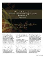 Women as Philanthropists: Gender and ... - Margaret May