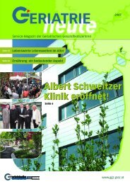Albert Schweitzer Klinik eröffnet! - Geriatrische Gesundheitszentren ...