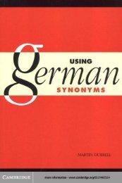 Using German Synonyms - Free