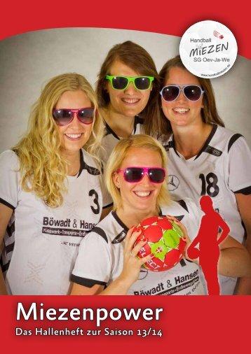 Miezenpower 1 – August 2013 - Handballmiezen SG Oev-Ja-We