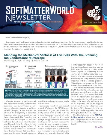 Mapping the Mechanical Stiffness of Live Cells ... - Soft Matter World