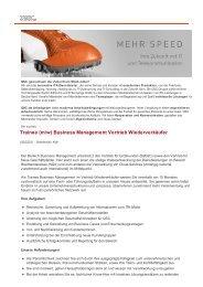 Trainee (m/w) Business Management Vertrieb Wiederverkäufer