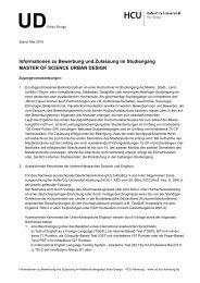 (pdf) Stand 12.05.2013 - Urban Design - HafenCity Universität ...