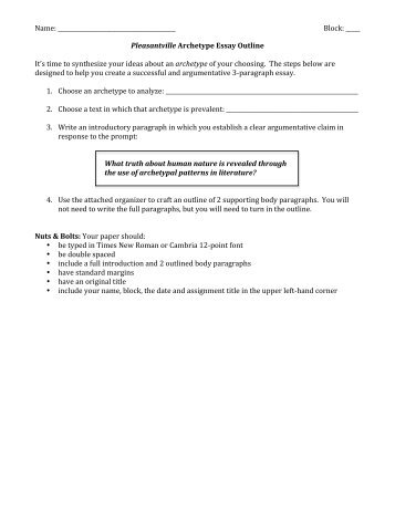 beowulf essay characteristics of archetypal epic hero pleasantville archetype essay outline 2012