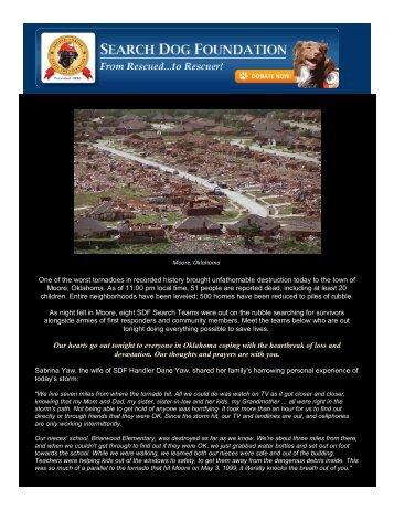 Seach Teams Deployed to Oklahoma - Search Dogs USA