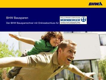 Anleitung zur Benutzung - Bausparen - BHW