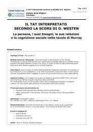 Il TAT interpretato secondo la SCORS di D. Westen - HumanTrainer