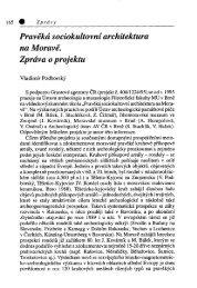 Pravěká sociokultovní architektura na Moravě. Zpráva o projektu