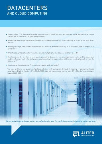 Datacenters and Cloud Computing - Aliter